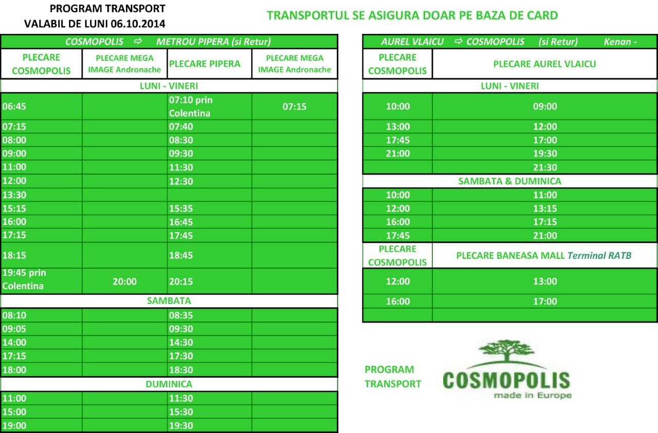 program transport modificat